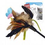 Дразнилка с бабочкой и перьями