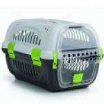 Beeztees Переноска для транспортировки животных серо-зеленая