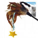 Дразнилка со звездочкой и перьями