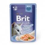 BRIT Premium Cat Pauch Salmon fillets JELLY