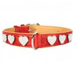 """CoLLaR Brilliance двойной красный с украшениями """"Сердечко"""" 46-60см*35мм,"""