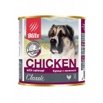 Blitz Classic Dog Chicken & Oatmeal Minced