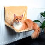 TRIXIE  Гамак для кошек на радиатор бежевый