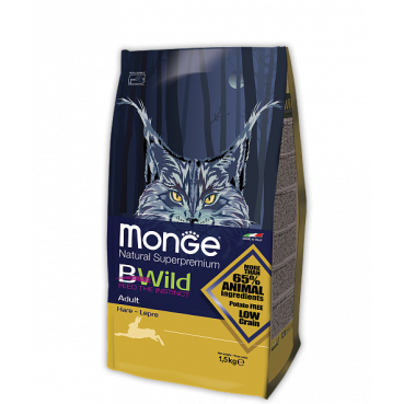 MONGE BWILD LOW GRAIN ADULT HARE CAT