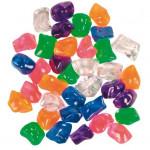 Разноцветные прозрачные камни для аквариума