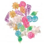 Разноцветные прозрачные ракушки для аквариума