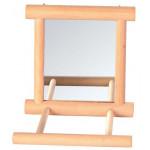 Деревянное зеркало с жердочкой